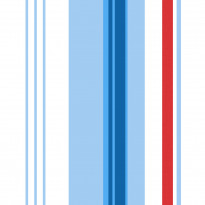 Tapetti Kompis 2 Multi stripe 1330362 0,53x10,05 m sininen/valkoinen non-woven
