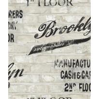 Tapetti AM-Walls Warehouse EW3704 0,53x10,05 m, vaaleanharmaa