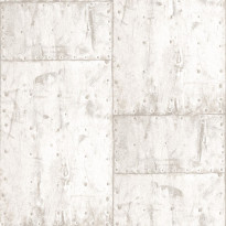 Tapetti Steel Plate PE04011 0,53x10,05 m helmiäisvalkoinen/vaalea beige non-woven