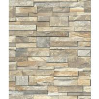 Tapetti Wall of Stones PE08026 0,53x10,05 m ruskea non-woven