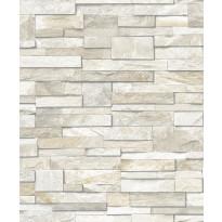 Tapetti Wall of Stones PE08035 0,53x10,05 m beige non-woven