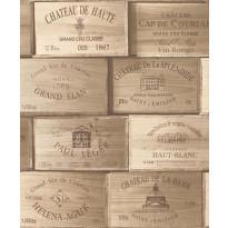 Tapetti Wine Box PE11011 0,53x10,05 m ruskea non-woven