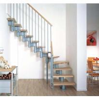 Porrasrakennelma Kompact U 74, korkeus 225-305cm, 2/4 kierrosta, eri värivaihtoehtoja