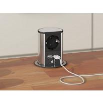 Pistorasia Savo Elevator USB Charger ruostumaton teräs