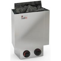 Sähkökiuas Sawo Nordex Mini 3,0kW (2-4m³), kiinteä ohjauskeskus