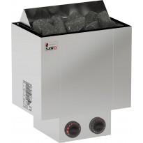 Sähkökiuas Sawo Nordex 9,0kW (8-14m³), kiinteä ohjauskeskus, Verkkokaupan poistotuote