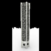 Sähkökiuas SAWO Tower Round, 6kW, 5-8m³, kiinteä ohjauskeskus