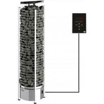 Sähkökiuas SAWO Tower Wall Ni2, 6kW, 5-8m³, erillinen ohjaus