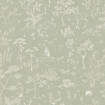 Tapetti Sandberg Hollie, vihreä, 0,53x10,05m, non-woven