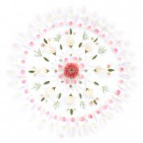 Flower Mandala vaaleanpunavalkoinen 629-02