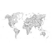 World Map mustavalkoinen 630-09