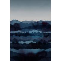 Paneelitapetti Sandberg Midnatt tummansininen 1,8x2,7 m, non-woven, Tammiston poistotuote