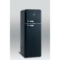 Jääkaappipakastin Scancool Retro RKB 200, 1497x545x638 mm, 208l, matta musta