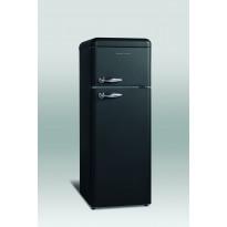 Jääkaappipakastin Scancool Retro RKB 202, 1497x545x638mm, 206l matta musta