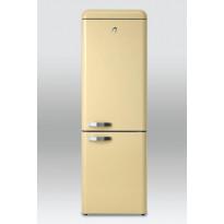 Jääkaappipakastin Scancool Retro RKC 300, 1900x600x650 mm, 300 l, beige
