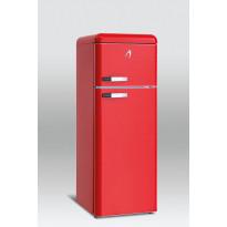 Jääkaappipakastin Scancool Retro RKF 200, 1497x545x638 mm, 208l, ferrarinpunainen