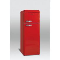 Jääkaappipakastin Scancool Retro RKF 201, 1497x545x638 mm, 208l, ferrarinpunainen