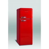 Jääkaappipakastin Scancool Retro RKF 202, 1497x545x638mm, 206l ferrarinpunainen