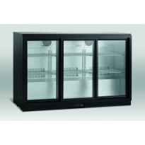 Jääkaappi lasiovella Scandomestic SC 310 SL, 135cm, musta