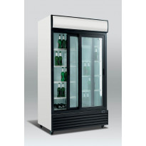 Jääkaappi lasiovella Scandomestic SD 1001 Sl, 113cm, valkoinen