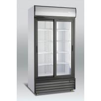 Jääkaappi lasiovella Scandomestic SD 802 SLE, 100cm, valkoinen