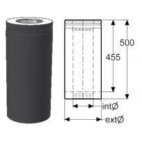 Hormijakso Schiedel Permeter Smooth, 150mm, musta, 500mm, Verkkokaupan poistotuote