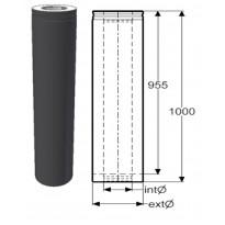 Hormijakso Schiedel Permeter Smooth, 150mm, musta, 1000mm