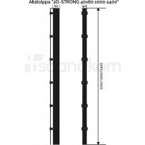 Aitatolppa Scandkom 2D Strong, 40x60x1200mm