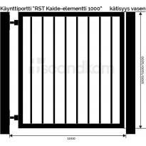 Käyntiportti Scandkom Kaide 1000x1000mm, rst