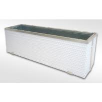 Kukkalaatikko Scandkom 98x34x25cm, polyrottinki, valkoinen