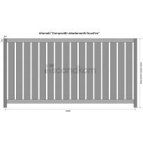 Aitaelementti Scandkom ScanFen 800x2000mm, puukomposiitti