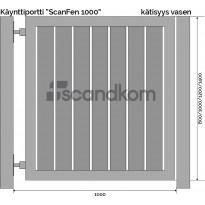 Käyntiportti Scandkom ScanFen 1000x1000mm