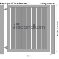 Käyntiportti Scandkom ScanFen 1400x1000mm, puukomposiitti