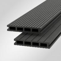 Terassilauta Scandkom WPC SK Klassinen 25x150x4200mm, puukomposiitti, tummanharmaa
