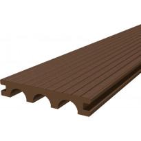 Laituri-/terassilauta Scandkom WPC SK Pro Strong 25x150x4200mm, puukomposiitti, ruskea