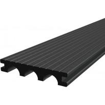Laituri-/terassilauta Scandkom WPC SK Pro Strong 25x150x4200mm, puukomposiitti, tummanharmaa