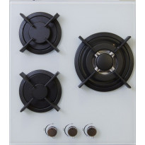 Keraaminen kaasuliesitaso Schlosser PGH452W, 45 cm, 3-liekkinen, valkoinen