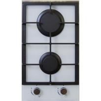 Keraaminen kaasuliesitaso Schlosser THG315CW, 30 cm, 2-liekkinen, valkoinen
