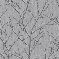 Tapetti Sandudd Vermeil 104752, 0,52x10,05m, harmaa/hopea, non-woven