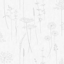 Tapetti Sandudd Vermeil 104888, 0,52x10,05m, valkoinen/harmaa, non-woven