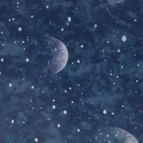 Tapetti Sandudd Planetarium Blue Glow In The Dark 108019, 0.53x10.5m