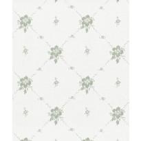 Tapetti Sandudd Isoäidin aikaan 4836-2, 0,53x10,05m, valkoinen/vihreä, non-woven