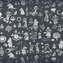 Moomin 5164-1 musta/hopea