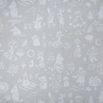Tapetti Sandudd Moomin 5164-3, 0,53x11,2m, harmaa/valkoinen, non-woven