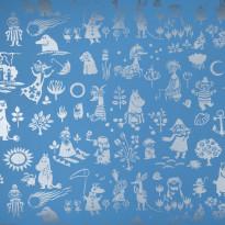 Moomin 5164-4 sininen/hopea