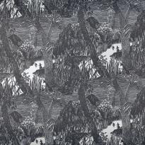 Moomin 5166-4 musta/hopea