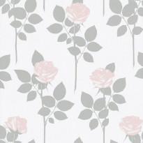 Metsäpolku 5260-3 valkoinen/vaaleanpunainen