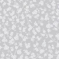 Tapetti Sandudd Rantaniitty 5309-1, 0,53x11,20 m, harmaa/valkoinen, non-woven