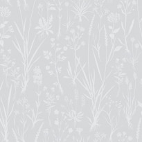 Tapetti Sandudd Rantaniitty 5312-1, 0,53x11,20 m, harmaa/valkoinen, non-woven