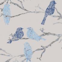 Tapetti Sandudd Belle 5336-3, 0,53x10,05 m, harmaa/sininen, non-woven